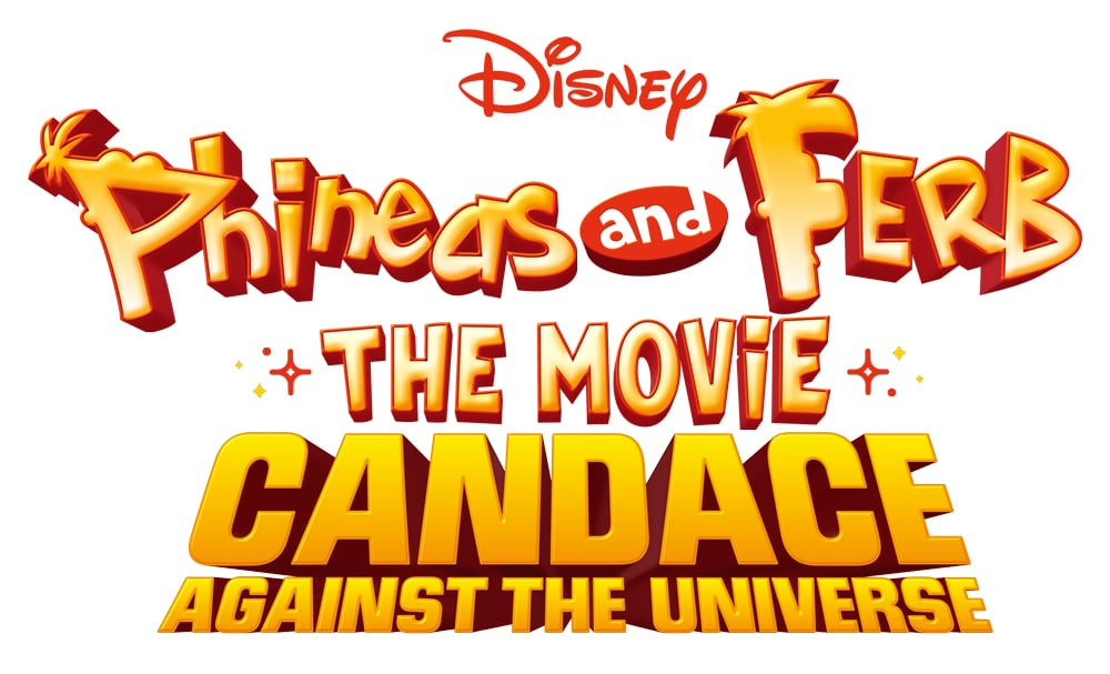 "Phineas and Ferb The Movie: Candace Against the Universe Logo. The out-of-this-world animated movie ""Phineas and Ferb The Movie: Candace Against the Universe,"" from Disney Television Animation, will premiere exclusively on Disney+ Friday, August 28."