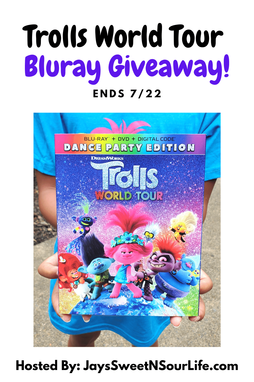Join Poppy, Branch, and the rest of the Trolls in the all-new Dance Party Edition. Enter to win your very own copy in my Trolls World Tour Bluray Giveaway! Giveaway ends 7/22.