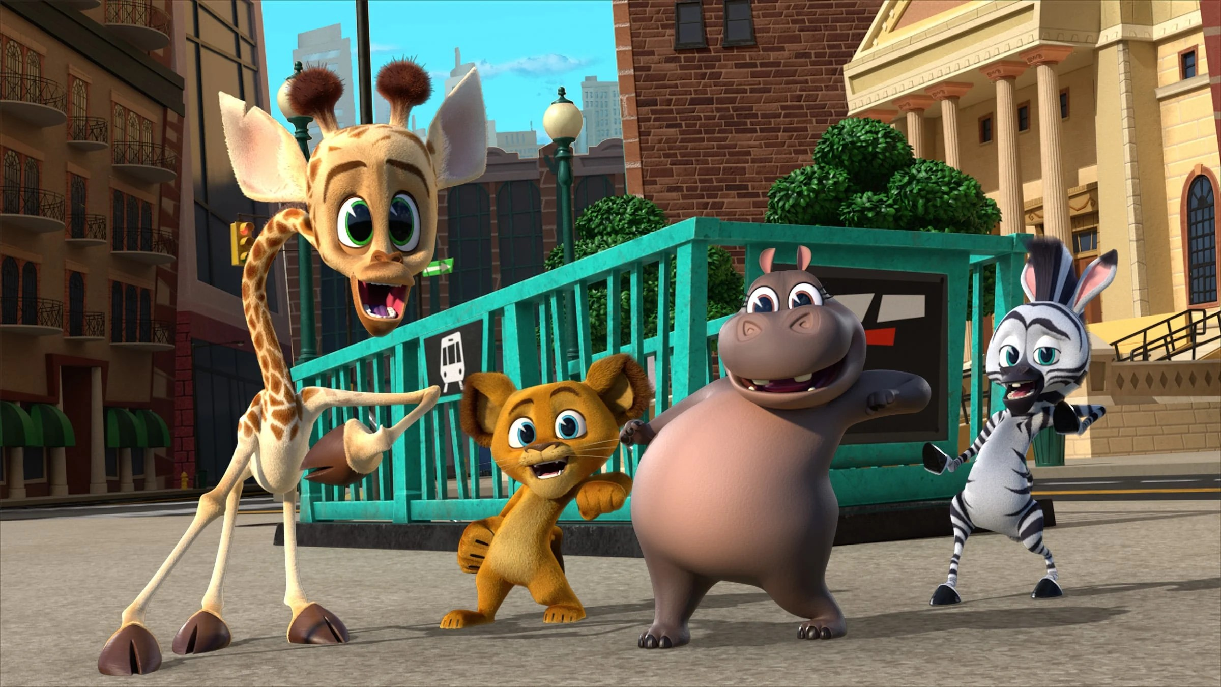 Melman, Alex, Gloria, Marty. Filled with original music and dance-worthy songs, the lovable foursome Alex the Lion, Marty the Zebra, Melman the Giraffe, and Gloria the Hippo steal the show in Madagascar: A Little Wild. Capturing the iconic personalities of the four dynamos,Madagascar: A Little Wildshowcases the team as kids residing in their rescue habitat at the Central Park Zoo.