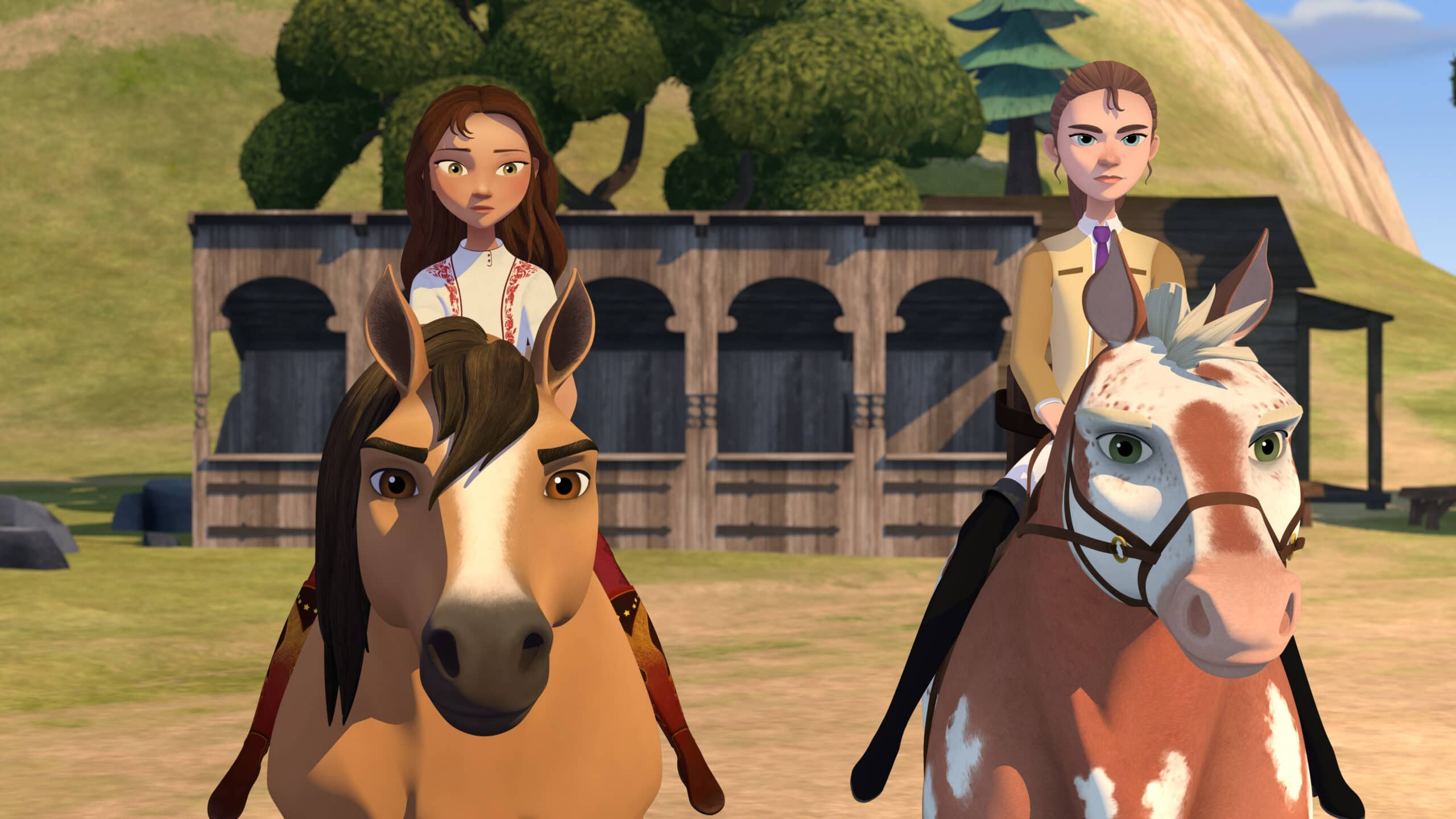 Spirit Riding Academy Part 2 Spirit. Inspired by the 2002 Oscar-nominated film ?Spirit: Stallion of the Cimarron,DreamWorks Spirit Riding Free?: Riding Academy Part 2takes place during their final term as Foals, Lucky, Pru & Abigail have finally adjusted to life at Palomino Bluffs Riding Academy when Mariciela announces that she and Mystery will be joining them!