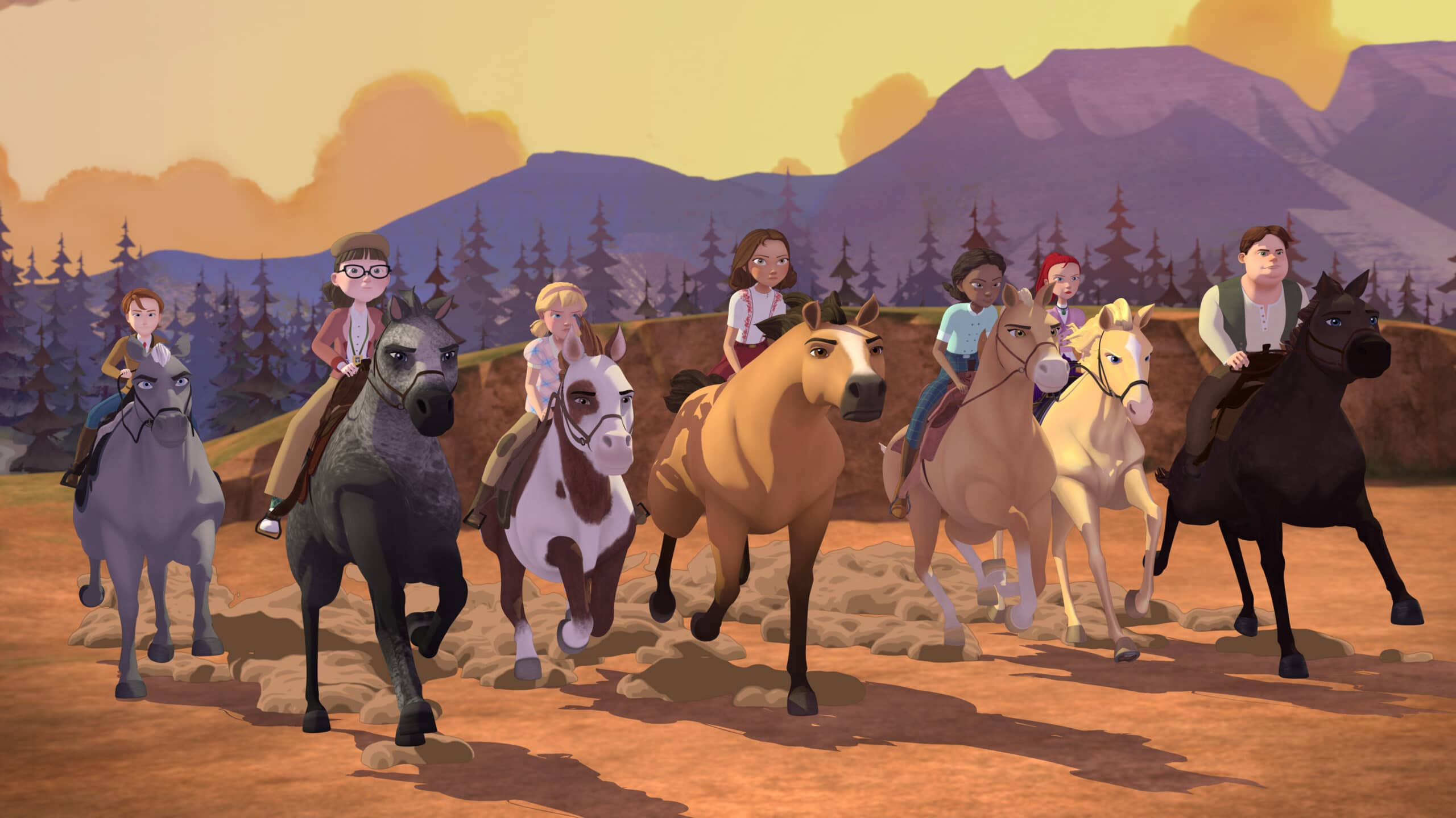 Spirit Riding Academy Part 2 Group. Inspired by the 2002 Oscar-nominated film ?Spirit: Stallion of the Cimarron,DreamWorks Spirit Riding Free?: Riding Academy Part 2takes place during their final term as Foals, Lucky, Pru & Abigail have finally adjusted to life at Palomino Bluffs Riding Academy when Mariciela announces that she and Mystery will be joining them!