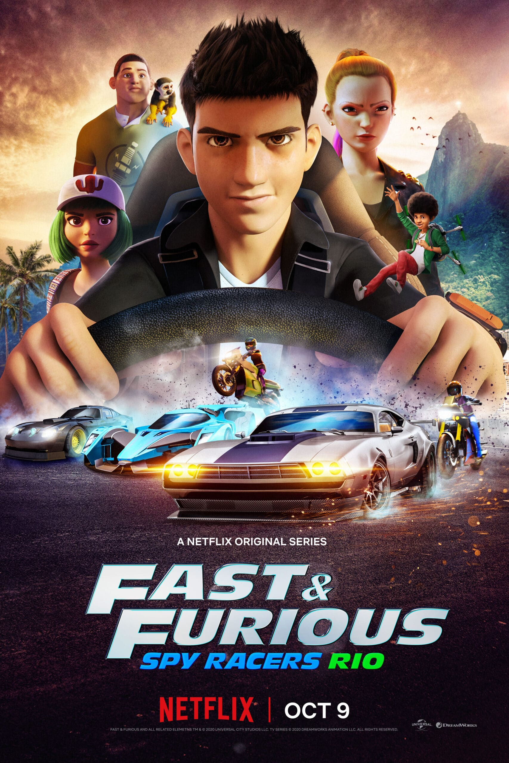 Fast & Furious: Spy Racers. Universal and DreamWorks Animation have released the second season trailer for the hit Netflix Original series Fast & Furious: Spy Racers, which finds the team heading to Rio de Janeiro on October 9. Check out the full trailer below, as well as more information about what to expect in Season 2