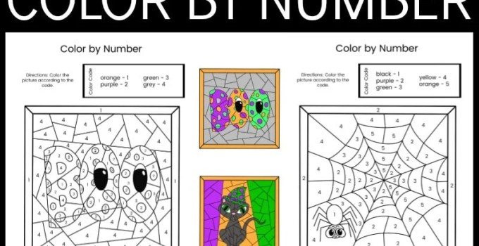 Halloween Color By Numbers Printables