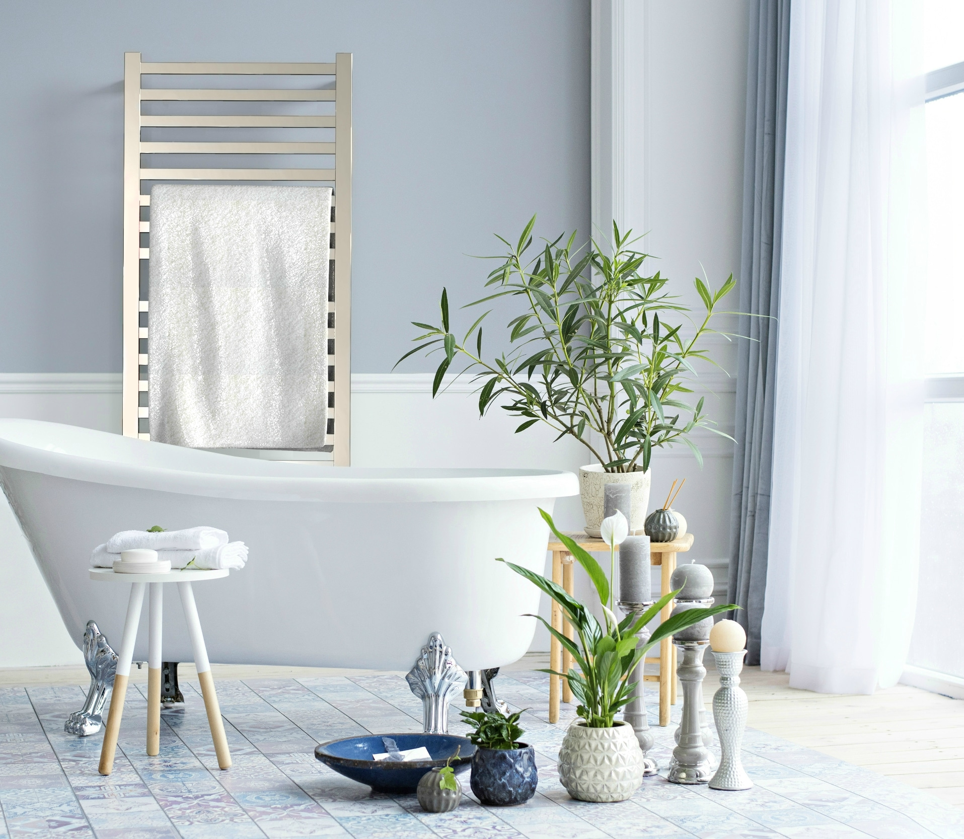 Amba Quadro Heated Towel Rack - champagne. Have ever thought about purchasing a Heated Towel Rack for your home? Freestanding heated towel racks units only need to be plugged in, come in a variety of space-saving models, and are very affordable. Adding a heated towel rack can save from having to launder towels as often and the racks can also be used to dry clothing.