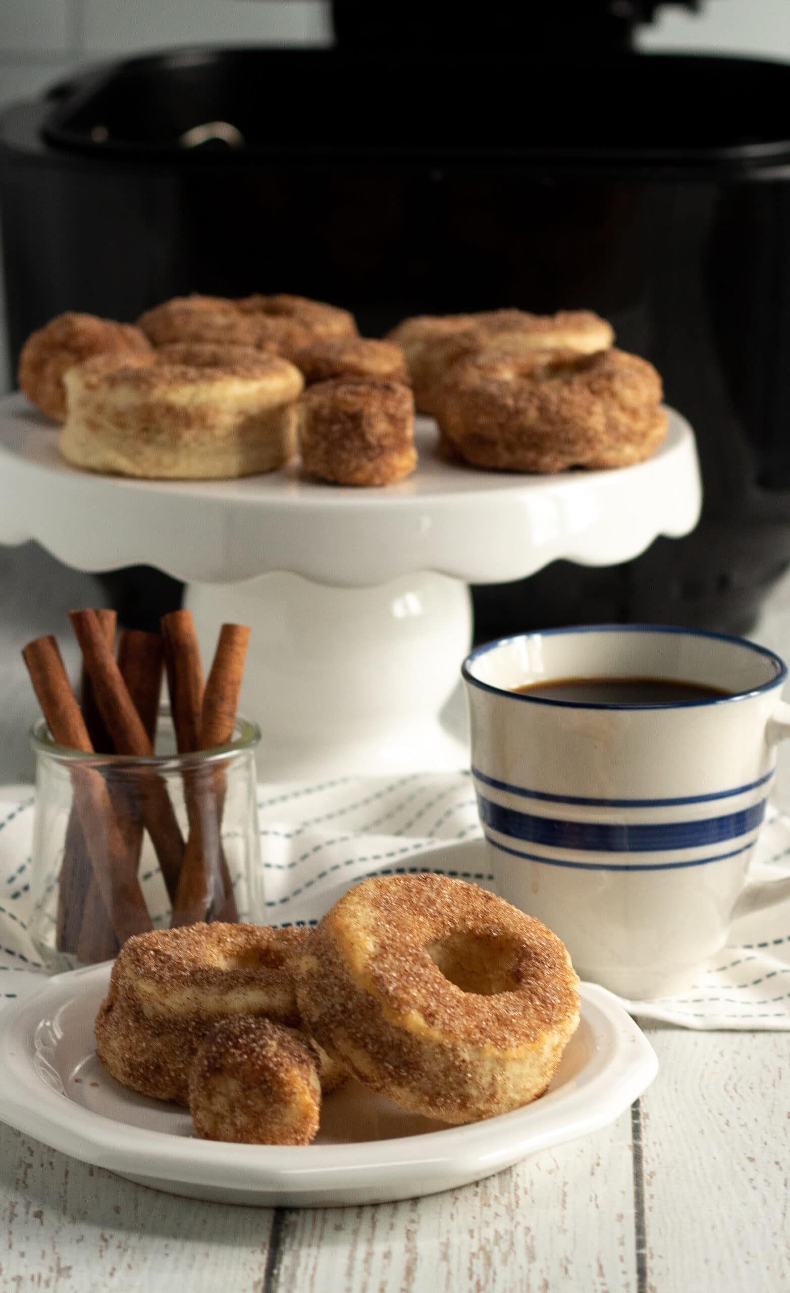 . Air Fyrer Pumpkin Spice Donuts RecipeFill your home with the smell of freshly made Air Fryer Pumpkin Spice Donuts, perfect for this beautiful fall weather we are having. These easy to make Pumpkin Spice Donuts have a crisp outer coating yet they so soft fluffy inside, enjoy them with a healthy coating of cinnamon sugar, or your favorite glaze.