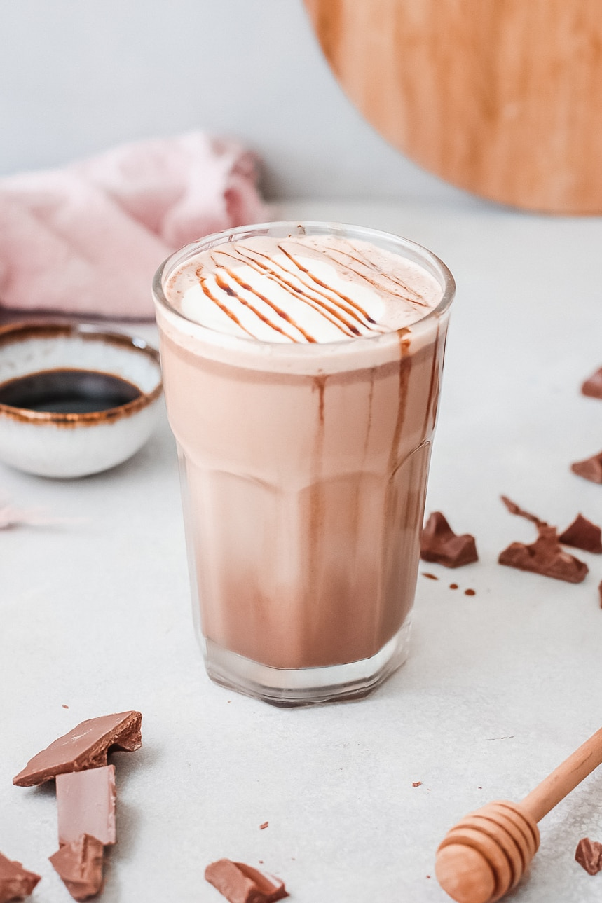 Slow Cooker Salted Caramel Hot Chocolate Served. Silky smooth, creamy and decadent, this Instant Pot Salted Caramel Hot Chocolate is an instant family favorite. Made in either the Instant Pot or Slow Cooker this festive holiday drink is perfect for any occasion.