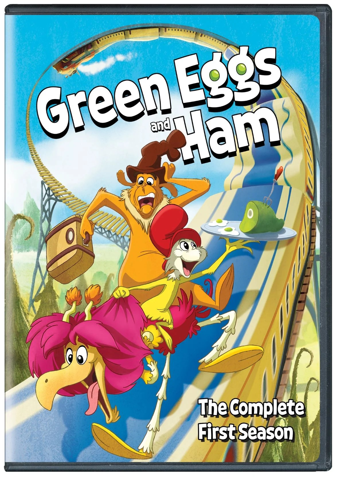 Green Eggs and Ham The Complete First Season. Prepare to go on an unforgettable adventure with Green Eggs and Ham: The Complete First Season. The animated family comedy series from Netflix will become available on DVD December 1rst, 2020, and on digital November 10th.