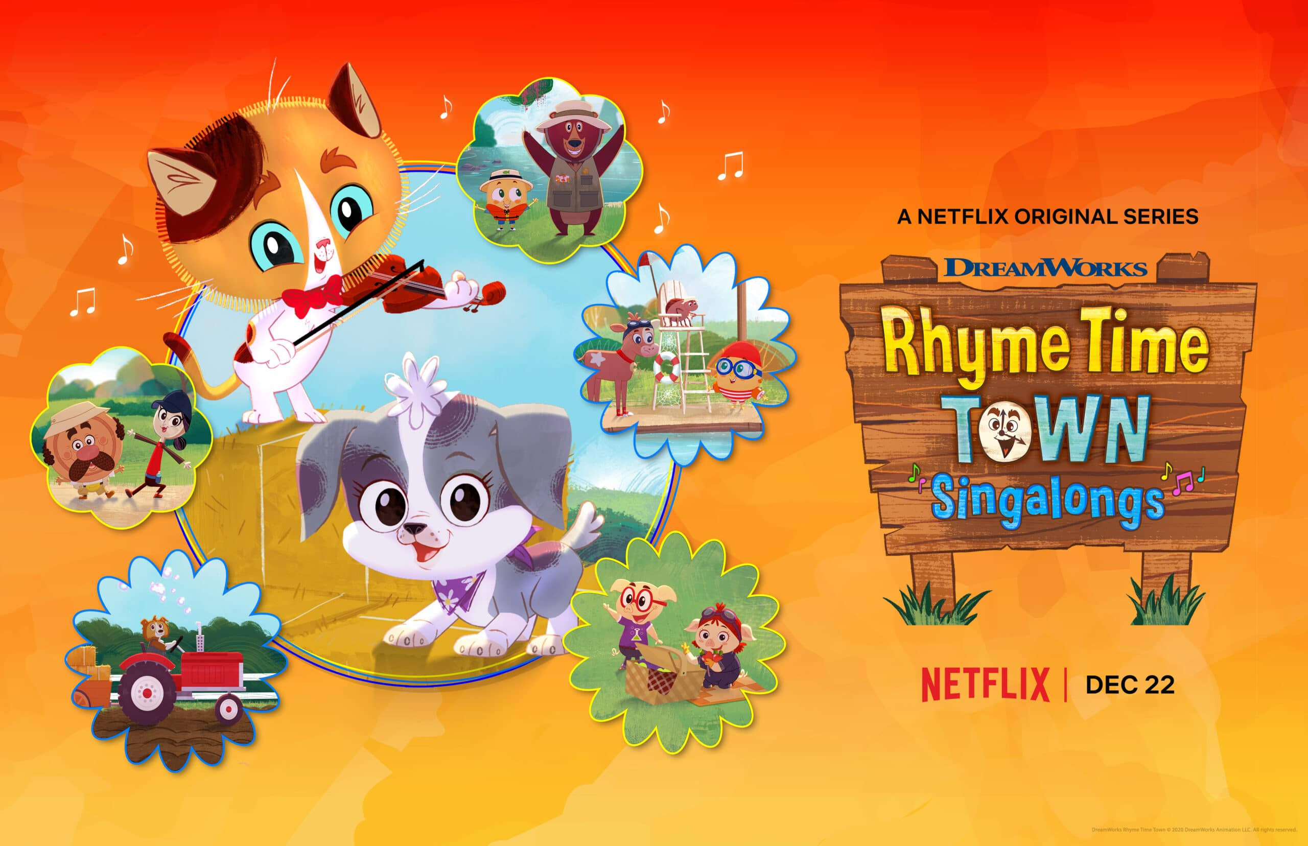 Rhyme Time Town Singalongs. Discover more about your favorite characters from the colorful world of Rhyme Time Town. Join Daisy and Cole in 10 all-new singing adventures through the Rhyme Time Town Singalongs,coming to Netflix on December 22nd!