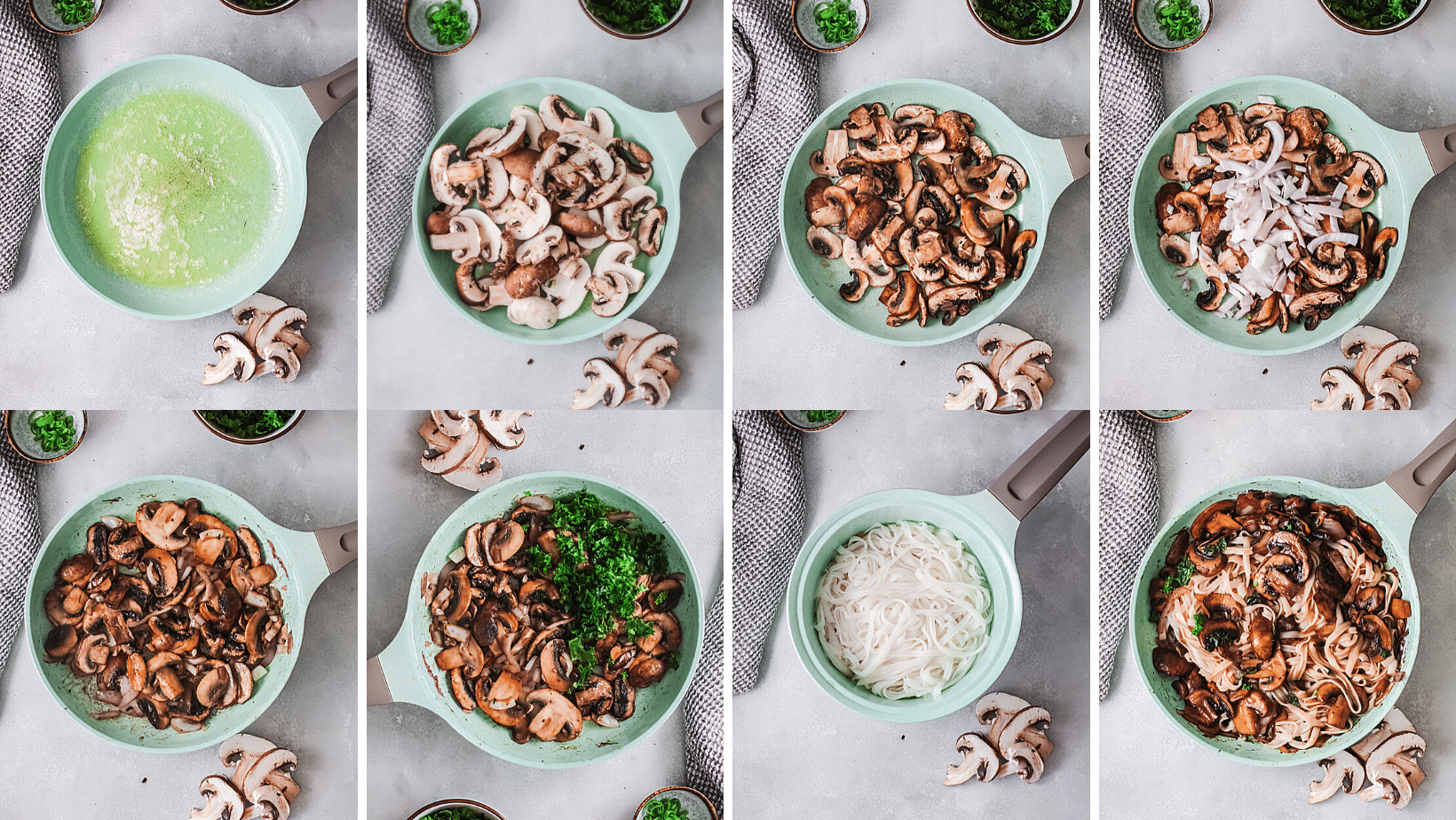Vegetarian Korean Noodle Cooking Steps. This simple and easy Vegetarian Korean Noodles dish is full of flavor and can be made in under 30 minutes. The Korean noodles are stir-fried in a savory sauce made with fresh vegetables such as mushrooms, red onion, ginger, garlic, and kale.