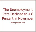 The Unemployment Rate Declined to 4.6 Percent in November