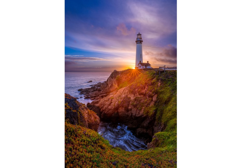 Pigeon Point Lighthouse - Sunset by Joe Azure.