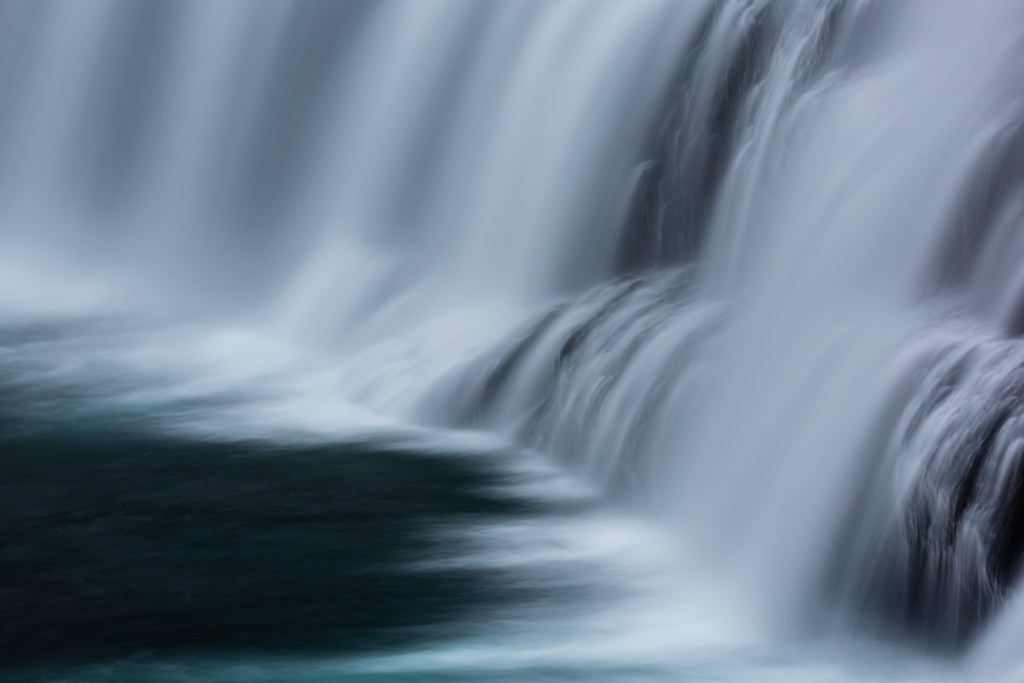 Dynjandi Abstract. A wonderful waterfall in Iceland. Photography by Joe Azure