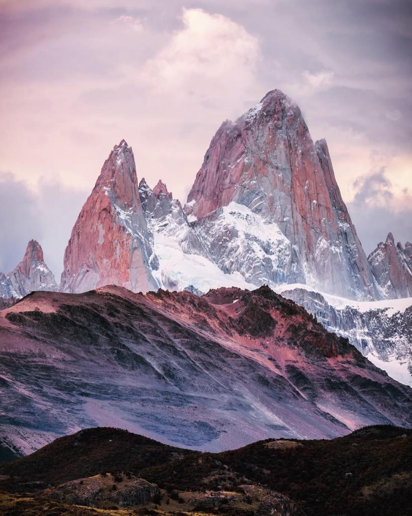 Moody Mountains  Mt Fitz Roy Argentina  Patagonia hashellip