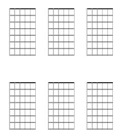 6 blank guitar chord and scale diagrams 7 frets [ 792 x 1122 Pixel ]