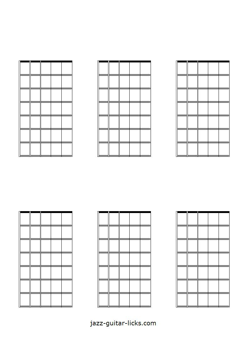 medium resolution of 6 blank guitar chord and scale diagrams 7 frets