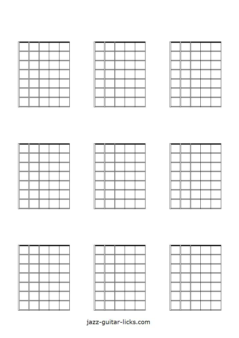 hight resolution of printable blank guitar neck diagrams