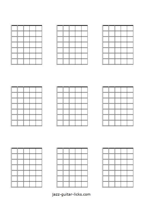 small resolution of printable blank guitar neck diagrams