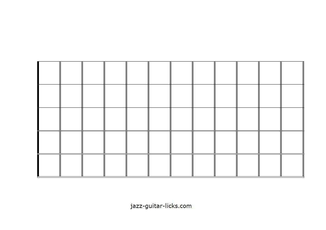 Printable Blank Guitar Neck Diagrams