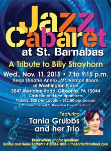 Jazz Cabaret at St. Barnabas - November 11, 2015