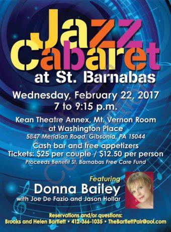 Jazz Cabaret at St. Barnabas - February 22, 2017