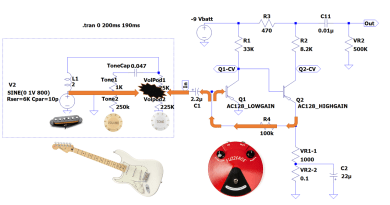 FuzzFace Feedback Loop with Guitar