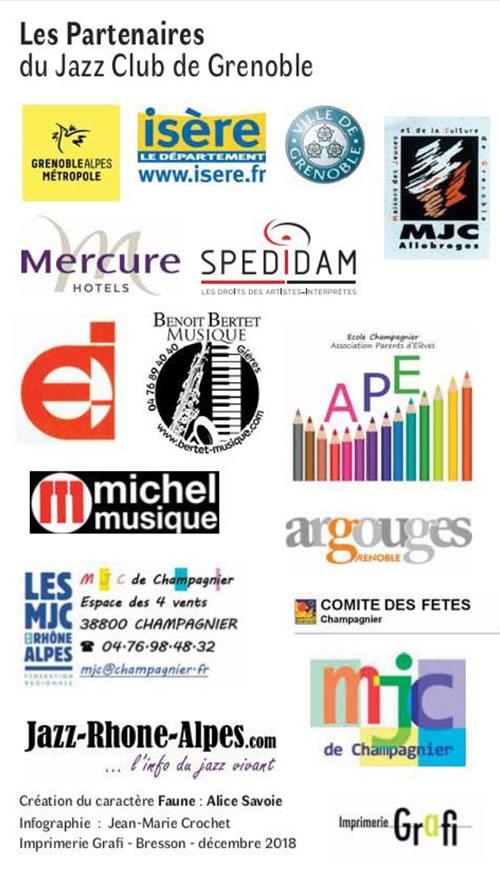 Partenaires du Jazz Club de Grenoble