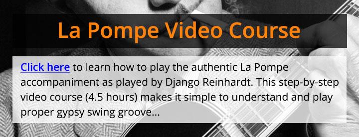 Django Reinhardt rhythm guitar
