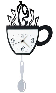 kitchen wall clocks outdoor modules hundreds of to buy online steaming cuppa arti mestieri clock