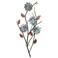 FLORAL METAL WALL ART DCOR HANGING