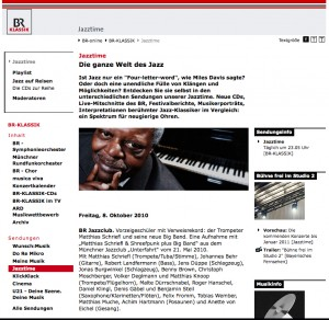 Jazztime – Die Jazzsendung beim BR.