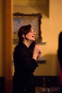 Angelika Niescier. Backstage. Foto: Petra Basche