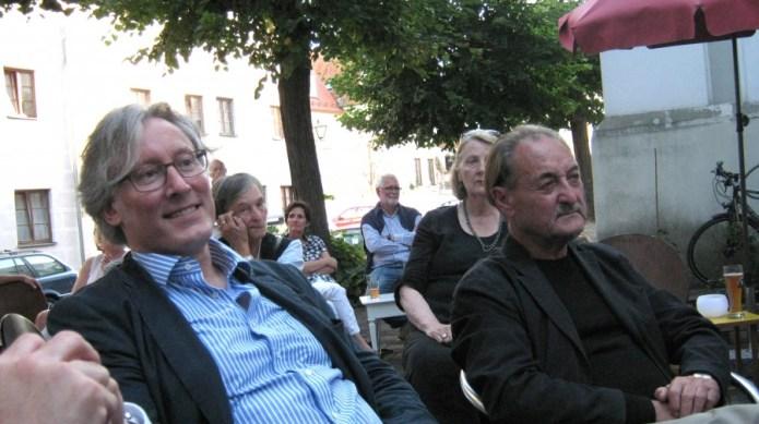 Roland Spiegel (BR, li.) und Manfred Rehm. Foto: Gaisa
