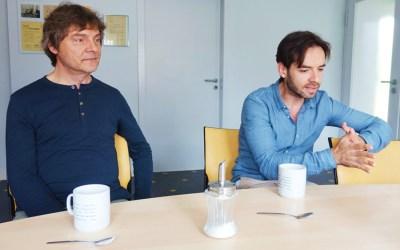 Vadim Neselovsky (p) und Arkady Shilkloper (Horn). Foto: Hans Kumpf
