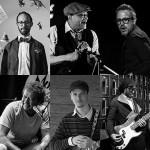 Die sechs Mentoren (v.li.oben): Yaron Herman, Al Jarreau, Ziv Ravitz, Nils Petter Molvaer, Kurt Rosenwinkel und Joe Sanders. Foto: Montreux Jazz Academy