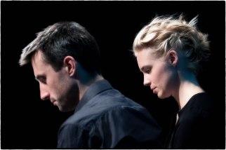 Julia Kadel und Alexander Hawkins in der Befragung. Foto: Petra Basche