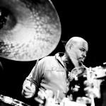Der amerikanische Jazz-Schlagzeuger Gene Jackson