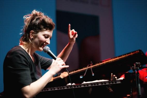 Eve Risser's White Desert Orchestra @ Jazzfest Berlin. Foto: Petra Basche