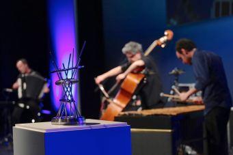 BMW Welt Jazz Award 2017, Renaud Garcia-Fons (b), David Venitucci (acc), Stephan Caracci (vib, dr), BMW Welt München, Foto Ralf Dombrowski