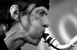 Gunter Hampel bei einem Auftritt von Jazz im Quadrat in Mannheim<br /> © Manfred Rinderspacher