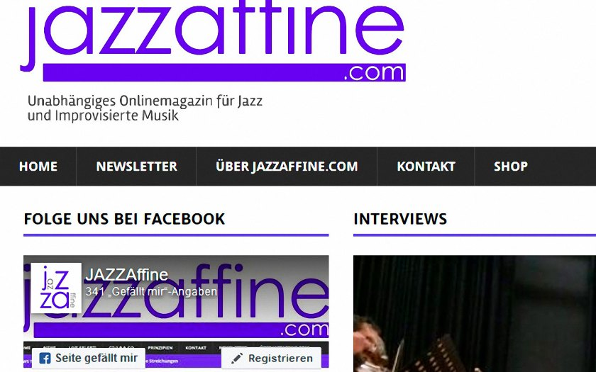 Website: Jazzaffine.com Screenshot