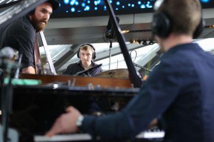BMW Welt Jazz Award 2018: LBT mit Leo Betzl (p), Maximilian Hirning (b) und Sebastian Wolfgruber (dr). Foto: Ralf Dombrowski