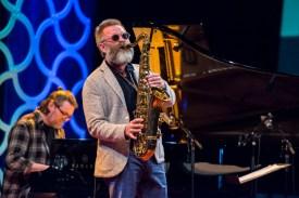 Oskar Gudjonsson vom Einar Scheving Quartet. Foto: Susanne van Loon