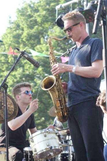 Christian Lillinger (dr) & Philipp Gropper (sax). Foto: S. Pieper