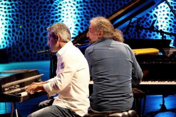 Nico Gori, Stefano Bollani. Foto: Thomas J. Krebs