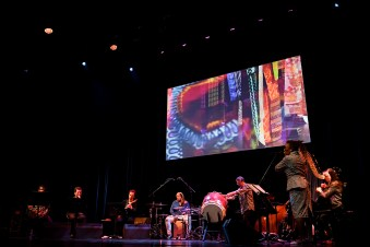 """Nicole Mitchell's Black Earth Ensemble"" (USA) mit ""Mandorla Awakening"": Foto: HuPe-kollektiv"