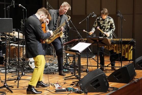 Velvet Revolution, Théo Ceccaldi (vl), Daniel Erdmann (ts), Jim Hart (vib), Solitär, Mozarteum, Photo (c) Ralf Dombrowski