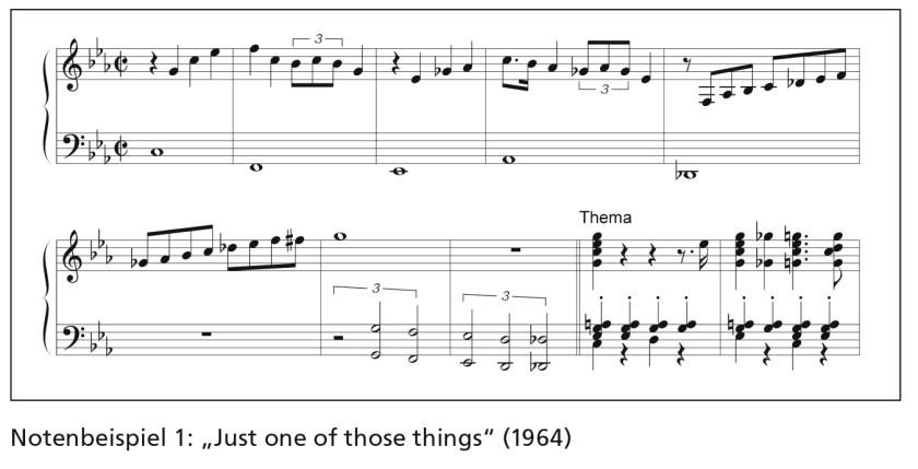 """Notenbeispiel 1: """"Just one of those things"""" (1964)"""