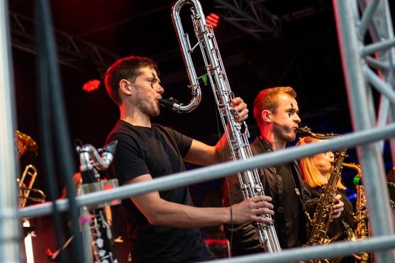 Florian Leuschner mit dem besten Bassklarinetten-Solo ever. Foto: Susanne van Loon