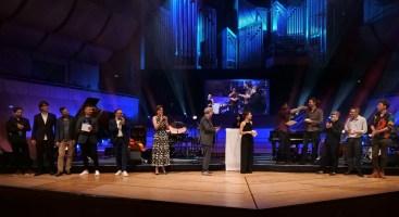 Die Preisverleihung in der Münchener Philharmonie im Panorma. Foto: TJ Krebs