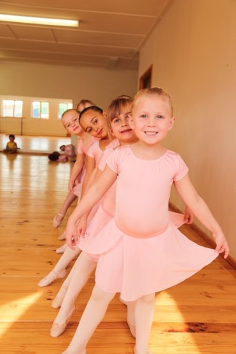 The dancers from front are: Emily Horsfield, Isabella Knowles, Zahra Olivier and Sophie D'Arcy.